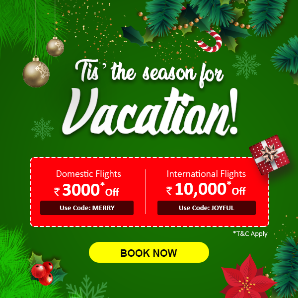 Tis' the season for Vacation! | Christmas flight offer | Christmas Flight Discount